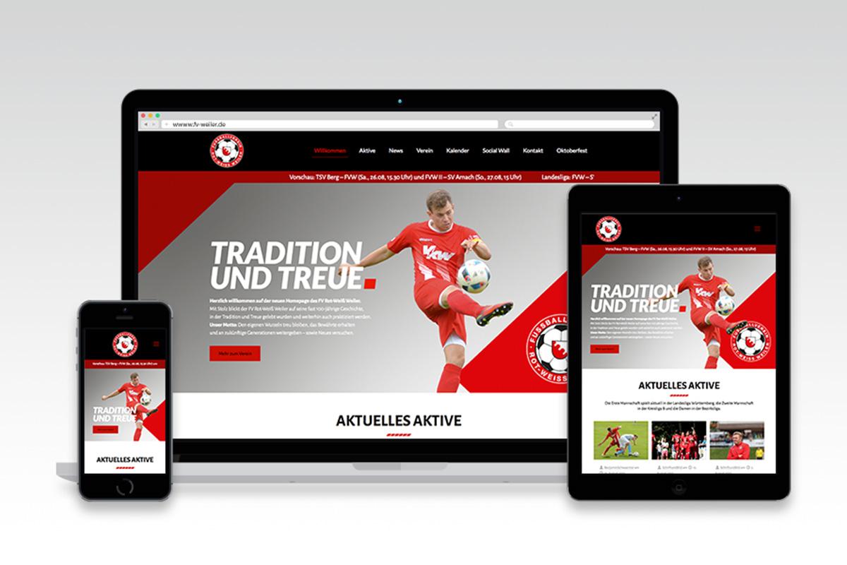 Webseite FV Weiler