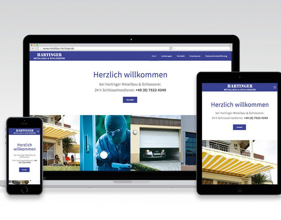 Webseite Hartinger Metallbau