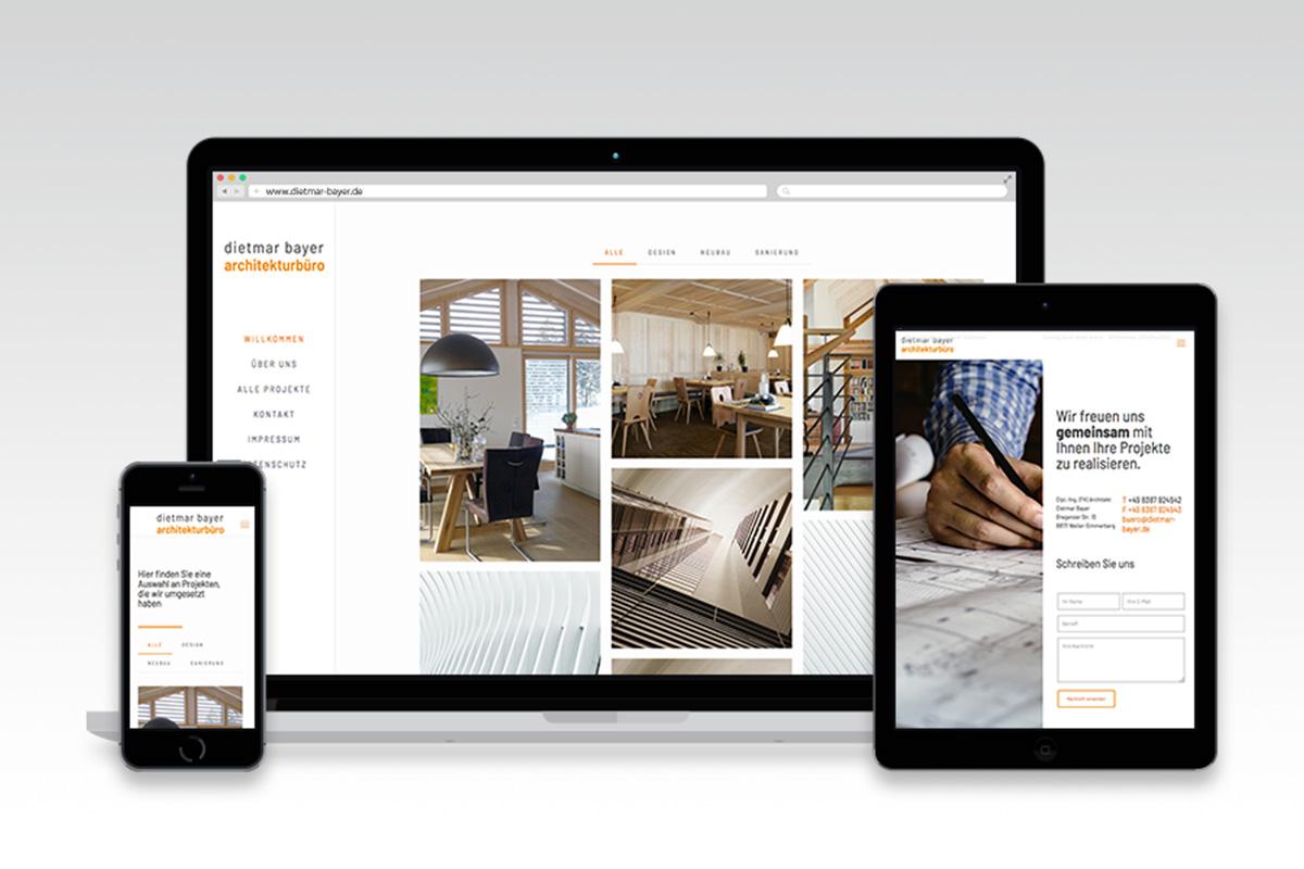 Webseite Architekt Bayer Weiler