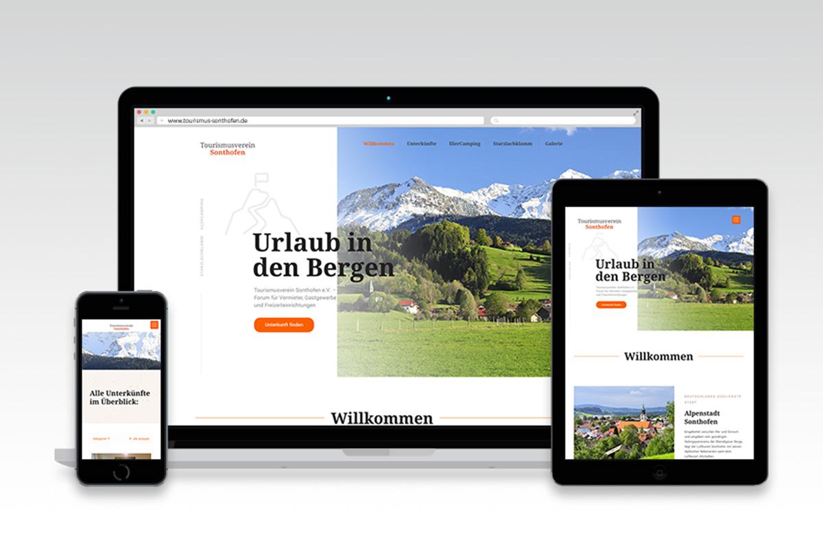Webseite Tourismus Sonthofen