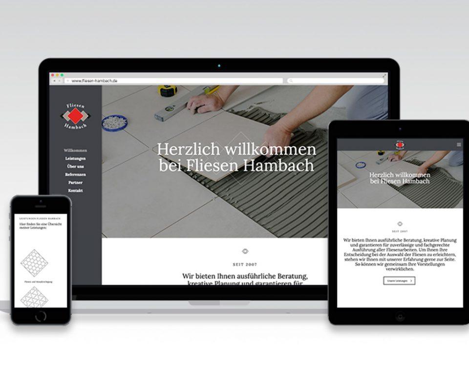 Webseite Fliesen Hambach