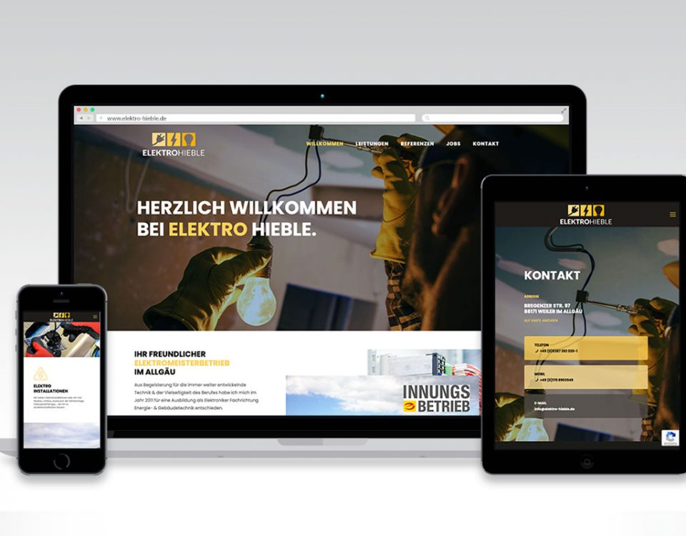 Webseite Elektro Hieble
